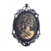 Skeleton Lady Cameo Brooch