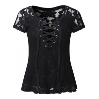 Lace Top: Short Sleeves